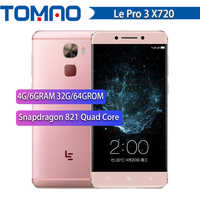 "100% New Letv LeEco Le Pro 3 X720 Mobile Phone 4G/6G RAM 32G/64G ROM Snapdragon821 Quad Core 5.5"" Dual SIM 16MP 4070mAh Google"