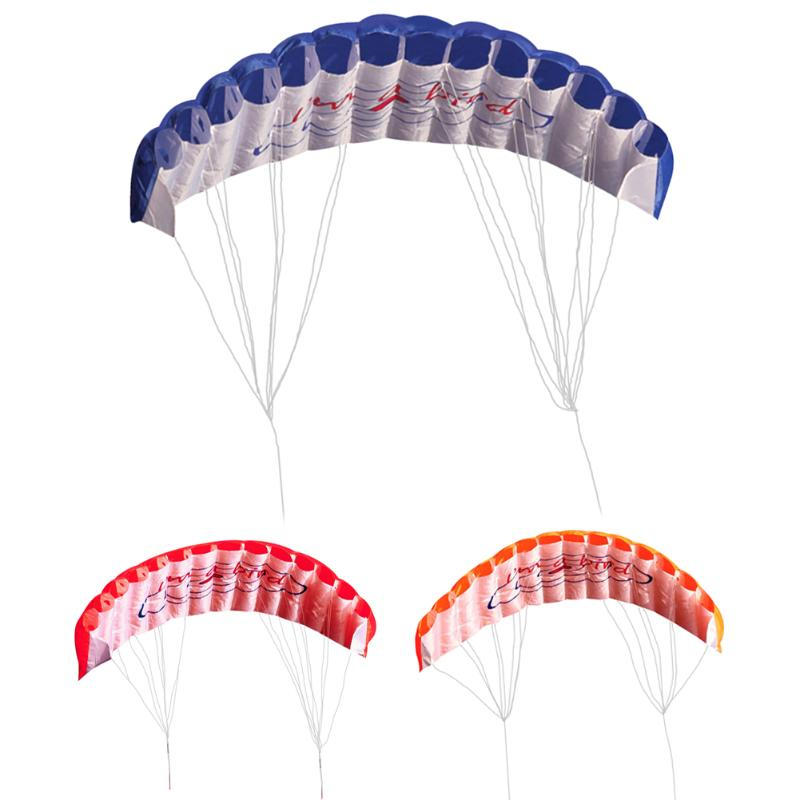 Dual Line Kite Outdoor Family Playing Power Dual Line Stunt Parachute Rainbow Sports Beach Kite Flying Lines For Beginner