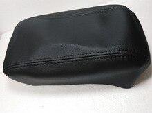Пояса из натуральной кожи защиты площадки подлокотник Обложка для Hyundai Tucson PU бежевый серый черный центральной консоли подлокотник кожаный чехол
