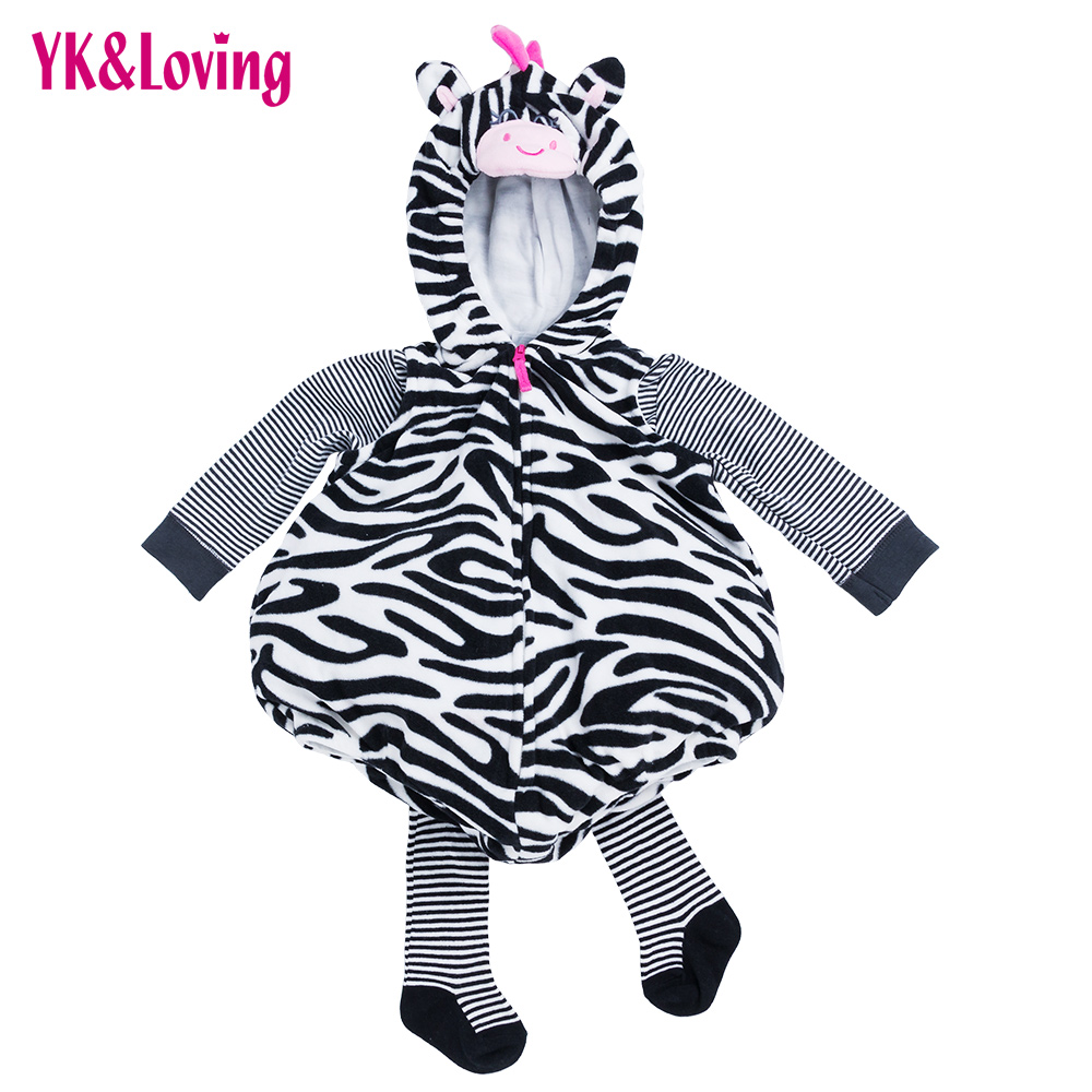Spring Lovely Baby Boy Girl Outfit Thick Newborn Clothes for Party Dress Unisex Striped Children Costume with Cartoon Pig 2017