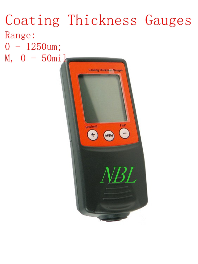 2 in 1 LCD New Digital FILM Coating Thickness Gauge Paint Meter Tester 8801FN 0-1250um 50mil F/NF Retail Package Free Shipping  цены