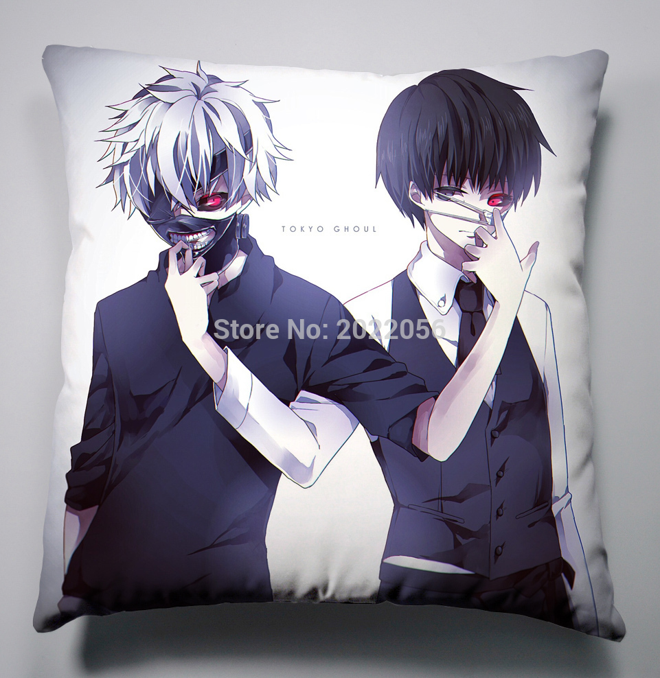 Anime Manga Tokyo Ghoul Pillow 40x40cm Pillow Case Cover Seat Bedding Cushion 004