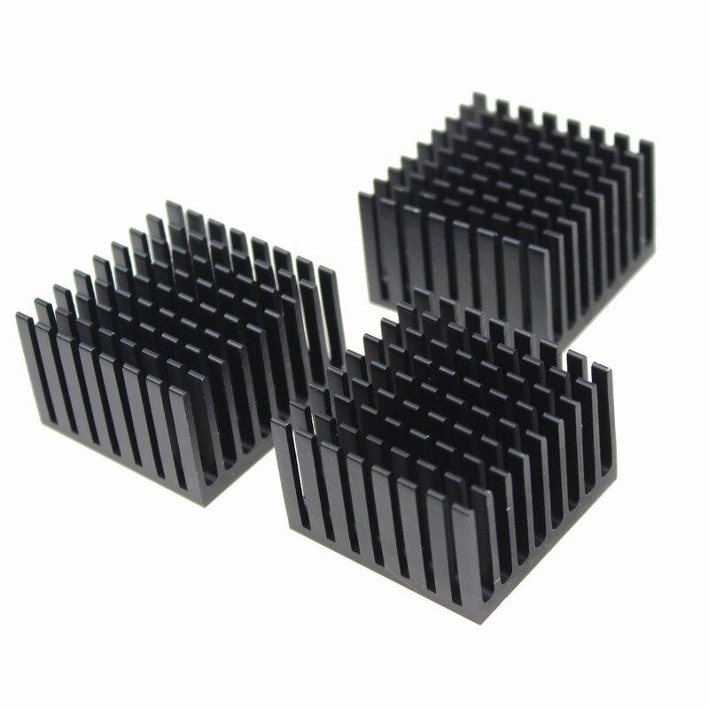 30 Pcs/lot Aluminum 37*37*24mm Black Heat Sink Heatsink Cooling Radiator