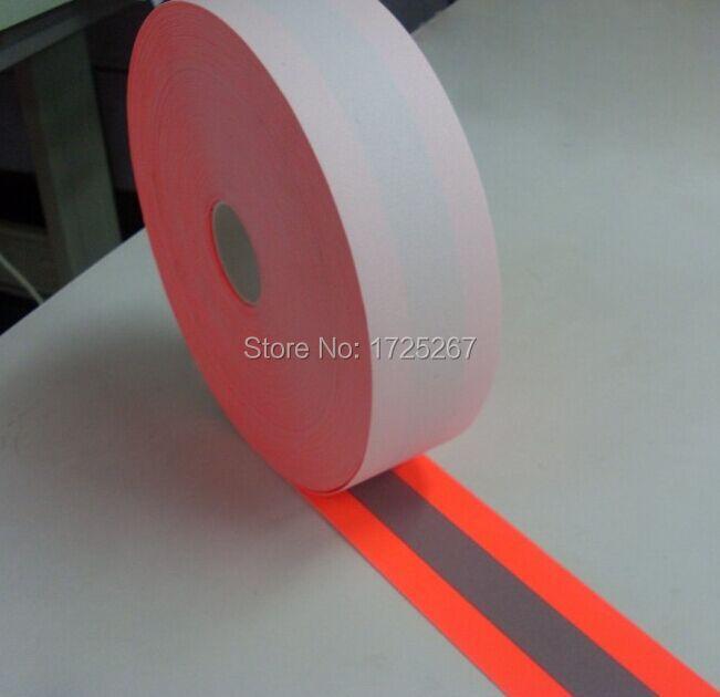 CSR 주황색-회색 주황색 5cm 너비, 50 야드 길이 반사 - 예술, 공예, 바느질 - 사진 1