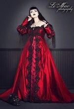 Ever After Fantasy Medieval or Princess Custom Gown Silk or Velvet RED Fantasy Wedding Gown