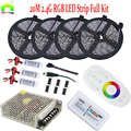 20M 5050 Waterproof  RGB LED Strip 10M 15M 5M Lighting Diode tape Fita + 2.4G Wireless RF Remote Controller + AC Power Supply