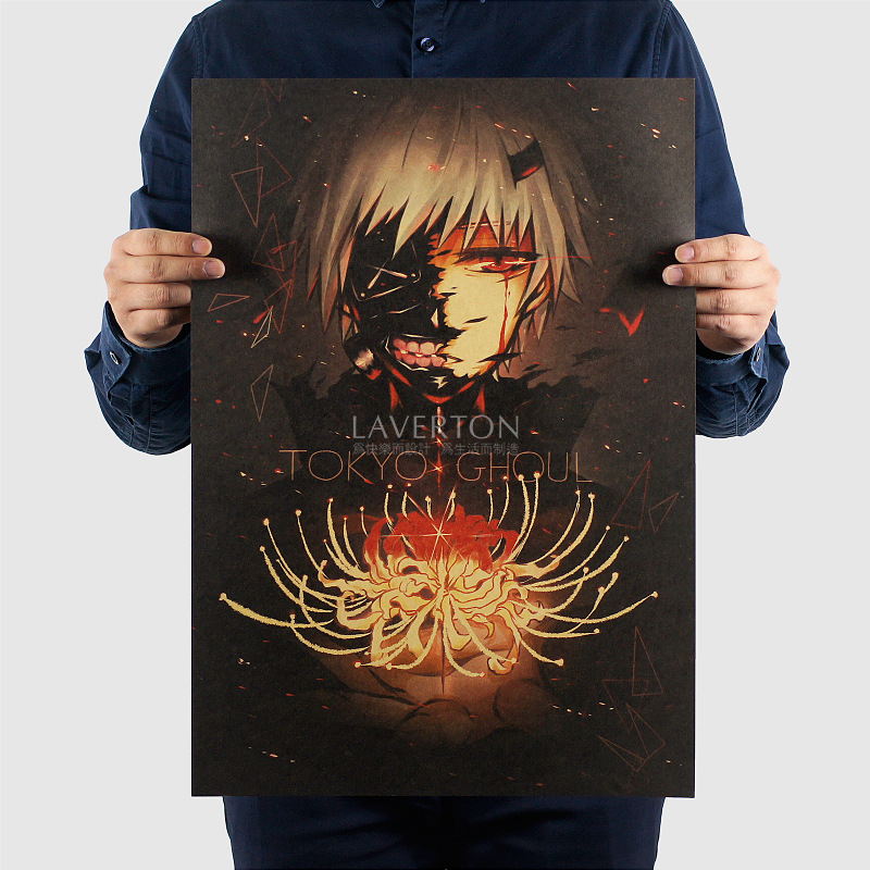 Tokyo Ghoul C Style/classic Japanese Cartoon Comic/kraft paper/Wall stickers/bar Retro Poster/decorative painting 51×35.5cm