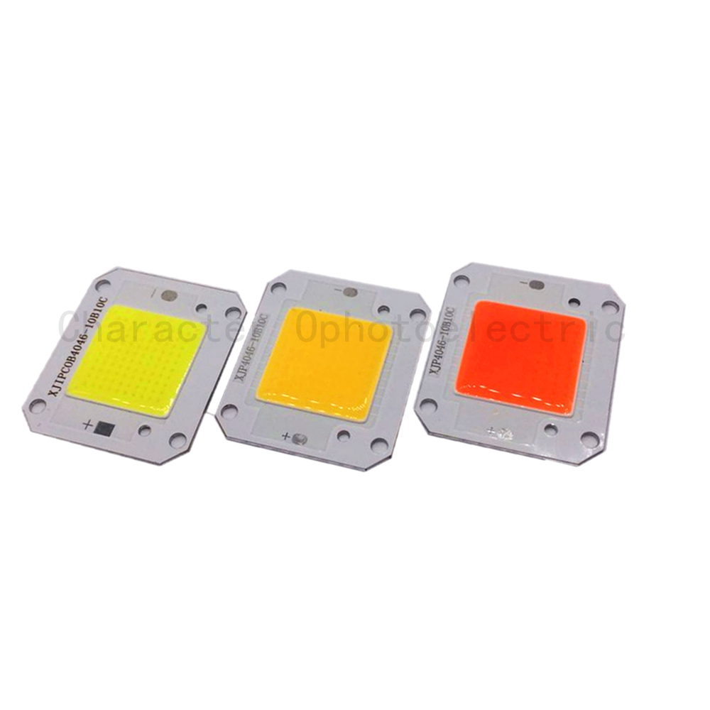 10 PCS 12V 50W 400-840NM/ Warm white /Cool white LED COB chip Integrated Smart IC Driver High Power 12V COB LED Chip Grow light