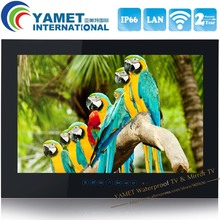 15.6 pulgadas Yamet IP66 1080 P WIFI HDMI Inteligente Android 4.2 baño TV Impermeable LED TV
