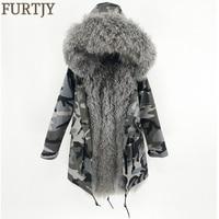 2018 длинная парка зимняя куртка женская натуральная Монголия овечий мех толстые теплые парки капюшон натуральный мех пальто Плюс Размер Ули