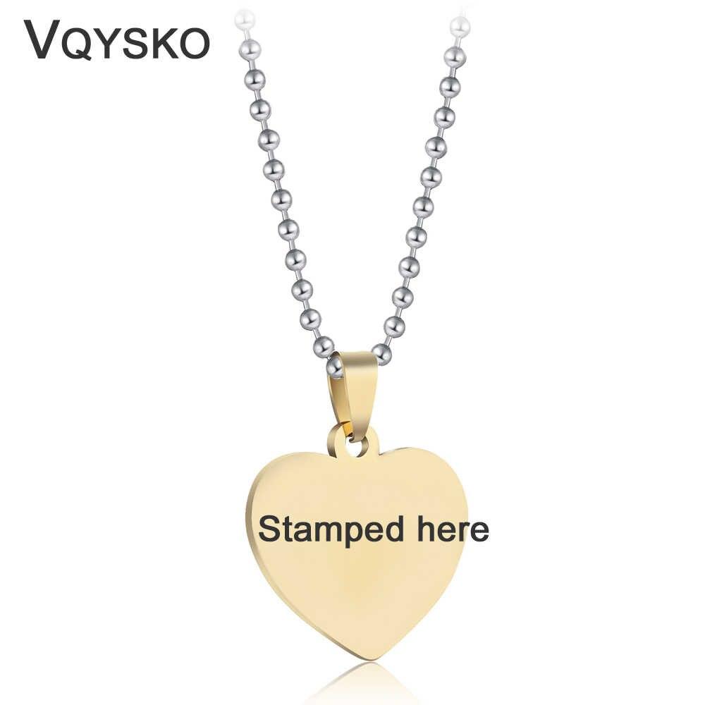 Мода индивидуальная гравировка фото имя ожерелье аксессуар из нержавеющей стали цепь с подвеской в виде сердца ожерелье s ювелирные изделия для женщин ID Tag