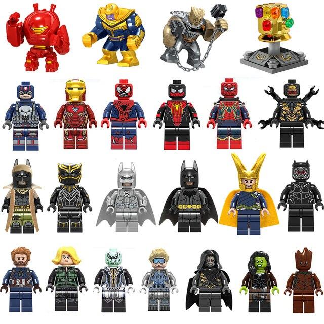 Marvel Super Heroes Avengers Brinquedos de Guerra Infinito LegoINGlys LegoINGlys Thanos Hulkbuster Figuras de Ação homem De Ferro Blocos Spiderman
