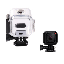 SnowHu for Gopro Accessories Transparent Underwater Waterproof Protective Housing Case For Gopro Hero 4 Session Camera GP309