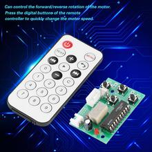 DC 4-6V 2-Phase 4-Wire Stepper Motor Driver Adjustable Speed with Remote Controller Board