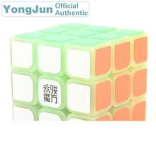 YongJun SuLong 3x3x3 Magic Cube YJ Noctilucent 3x3 Nightlight Neo Speed Puzzle Antistress Fidget Educational Toys For Children yongjun diamond symbol 3x3x3 magic cube yj 3x3 professional neo speed puzzle antistress fidget educational toys for children