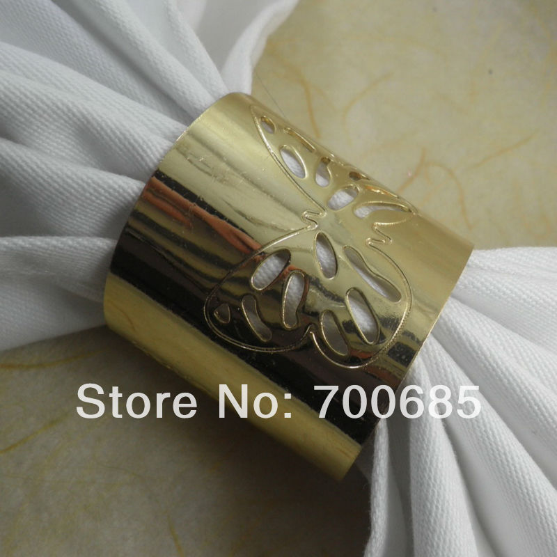 gold metal butterfly napkin rings,wedding  napkin ring, decoration  napkin ring, napkin holder,