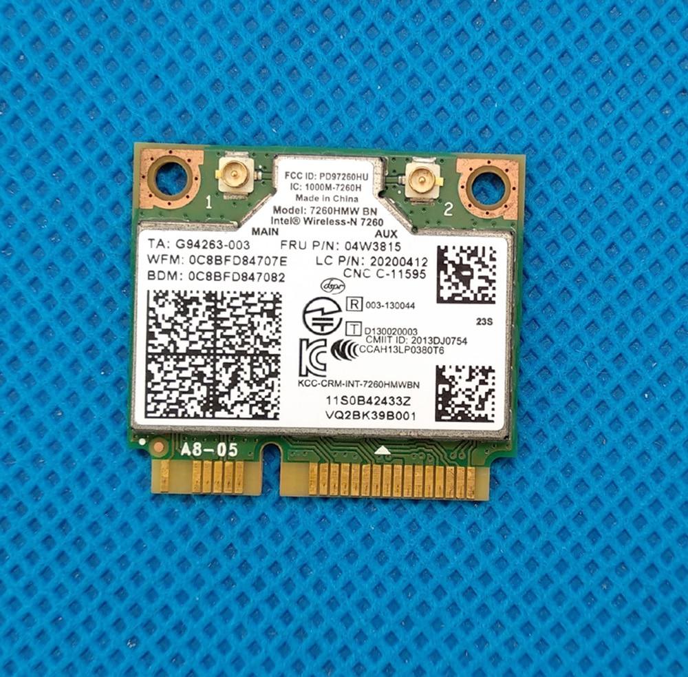 Intel 7260HMW BN 2x2BN Wi-Fi + Bluetooth 4.0 Mini PCI Express combo Adapter For Lenovo ThinkpadY510P Y410P Y430P FRU 04w3815