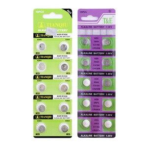 Image 2 - Ycdc 10 pçs de 1.55v bateria de relógio, botão alcalina, célula de bateria 194 394 524 394a d380 l936 lr936 rw33 s33 sg9 sp394 sr45 sr936 sr936sw