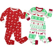 Long Sleeve Cotton Christmas Pajamas Children's Sleepwear