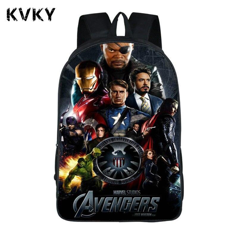 Super Hero Avengers Backpack For Teenagers Boys Girls School Bags Daily Travel Bag Children Pikachu Shoulder Backpacks Mochila