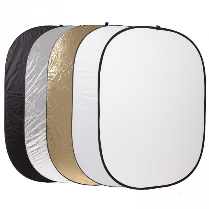 Godox 5 in 1 Photography background Reflector board Collapsible 100*150cm Lighting Diffuser Round Reflector Disc 5 in 1 collapsible large flash reflector board 60cm diameter