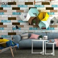 Wallpapers YOUMAN Brick Wallpaper For Walls 3d Rustic Vintage 3d Faux Brick Wallpaper Roll Vinyl Interior Home Decor Wall Paper