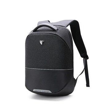 ac06e594c6f1 Новая мода Водонепроницаемый школьная сумка мужская 15 дюймов рюкзак для  ноутбука зарядка через usb Анти-кражи рюкзак мужские рюкзаки Mochila су.