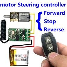 3.7v 4.5v 9v 12v motor Forward Reverse steering Controller module wireless remote control switch 433mhz rf transmitter receiver