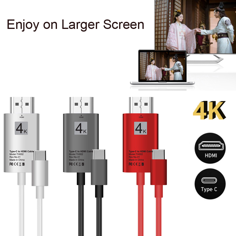 4K USB 3.1 USB-C Type C to HDMI cable HDTV video Adapter Converter for Macbook Thunderbo ...
