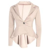 Mr.Nut One Button Slim Slim Coat Short Short Long Irregular Small Suit Fashion Office Tide Ladies Blazer