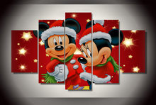 Home Decor Picture Modular Painting Mickey Mini Mouse Christmas Painting Children'S Room Decor Print Poster Picture Canvas Wall(China)