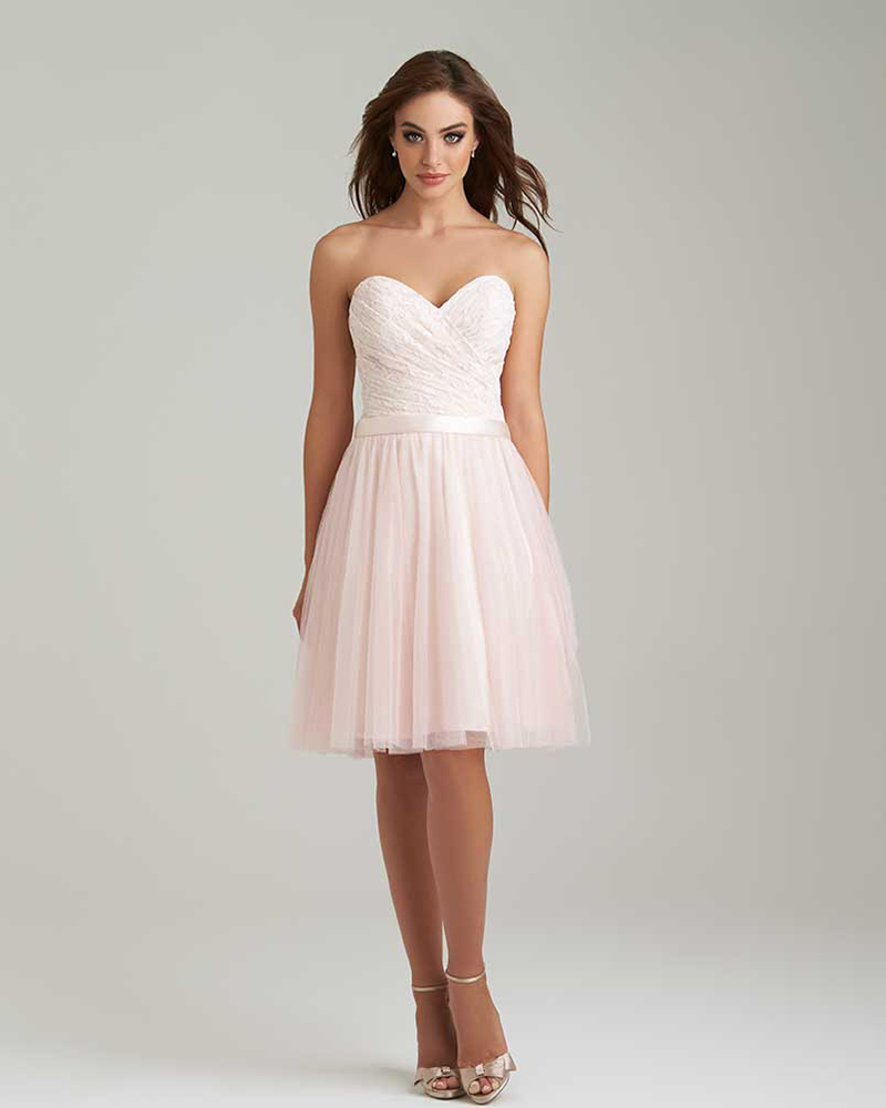 Aliexpress.com : Buy Baby Pink Lace Bridesmaid Dress Sweetheart ...