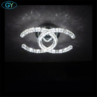 Modern Led Crystal Chandeliers K9 Crystal Living Room Bedroom Ceiling Mounted Lustres Lighting Led Chandelier Ceiling