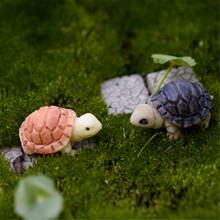 2pcs or pair Hot Mini Rabbit/Hedgehog /Tortoise Ornament Miniature Figurine Plant Pot Fairy Garden Decor
