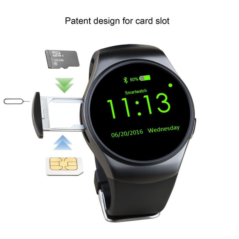 KW18 Bluetooth Smart Watch Phone Full Screen Support SIM TF Card Smartwatch Heart Rate for apple IOS for Android
