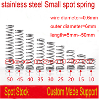 50pcs 0 6 6 10mm 0 6 6mm 0 6mm Stainless Steel Small Spot Spring Wire