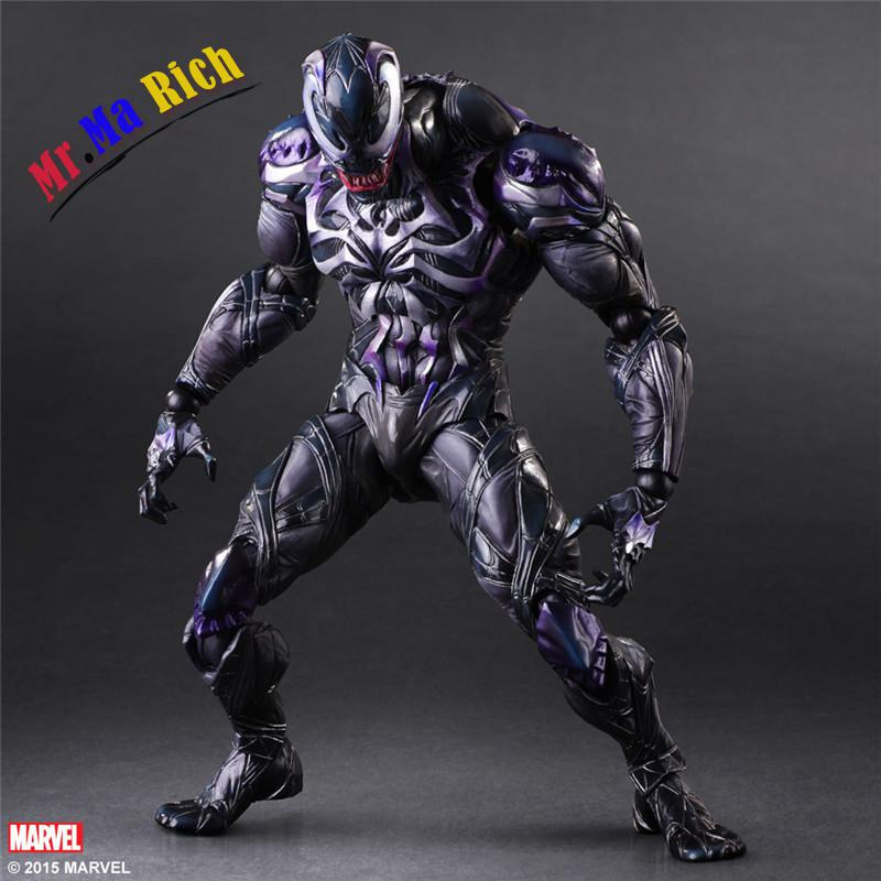 Square Enix Play Arts Kai Spiderman Venom Marvel Universe Variant Juguetes Pvc Action Figure Kids Toys Brinquedos 25cm super street fighter iv akuma gouki white variant play arts kai action figure