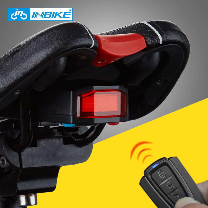 INBIKE Bicycle Light With Smart Warning Function USB Interface Bike Real Light Cycling Seatpost Tail Light With Bell TX179
