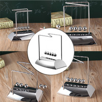 New Design Creative Gift Development Educational Desk Pendulum Toy Z Shaped Newtons Cradle Steel Balance Ball