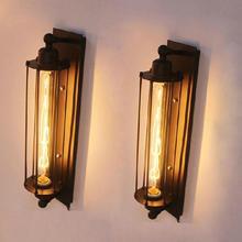 E27 lámpara de pared industrial Vintage desván dormitorio café morrior restaurante lámpara de aplique montada en la pared mesita de noche baño lámpara
