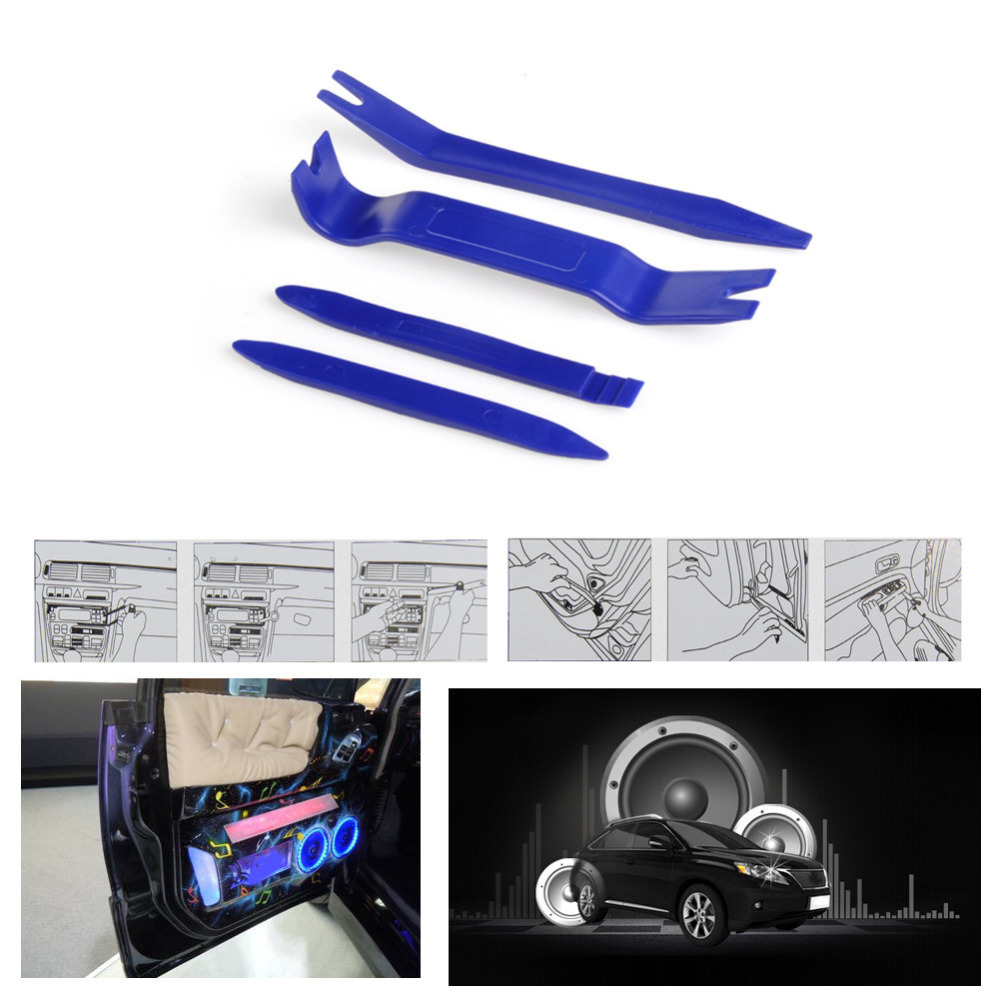 4Pcs/Set High Hardness Plastic Car Radio Panel Interior Door Clip Trim Molding Dashboard Removal Tool Car Repair Tools Kit