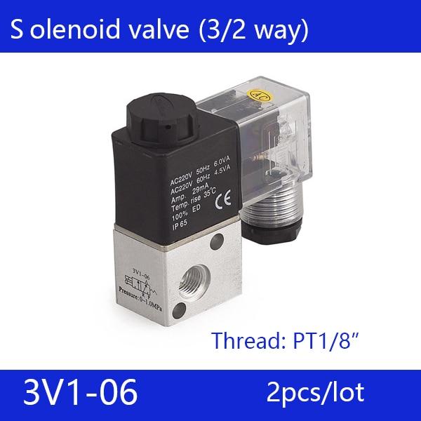 2pcs free shipping good qualty 3 port 2 position Solenoid Valve 3V1-06,have DC24v,DC12V,AC24V,AC36V,AC110V,AC220V,AC380V 20pcs free shipping good quality 5 port 2 position solenoid valve 4v310 10quality have dc24v dc12v ac24v ac110v ac220v
