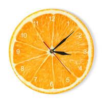 Желтый лимон настенные часы в виде фруктового дерева извести современные кухонные часы домашние декоративные часы гостиная часы тропическ...