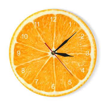 Yellow Lemon Fruit Wall Clock Lime Modern Kitchen Clock Watch Home Decor Living Room Clock Tropical Fruit Wall Art Timepieces - Category 🛒 Home & Garden