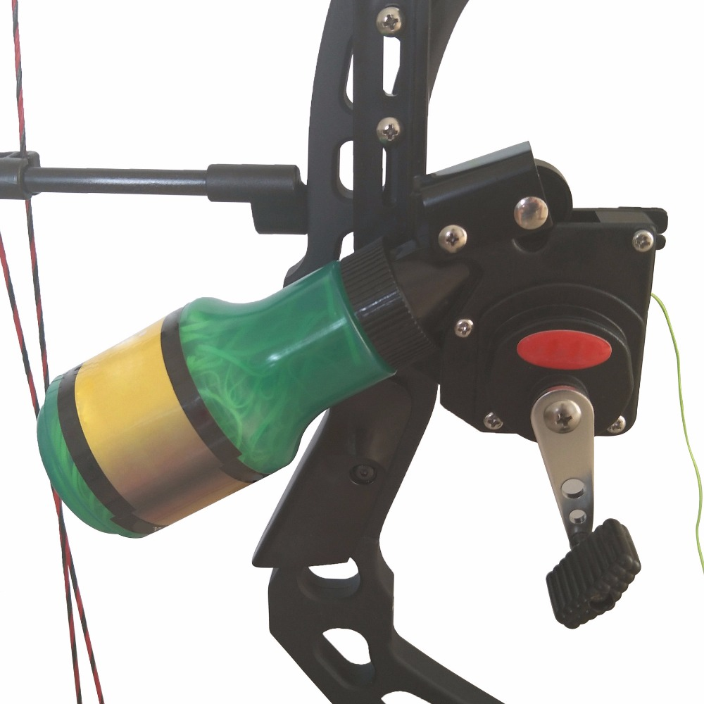 Recurve Bow Fishing Spincast Reel for Compound Bow Shooting Tool Fish Hunting Bow Fishing Slingshot archery recurve bow fishing spincast reel for compound bow shooting outdoor tool fish hunting slingshot 6 8mm