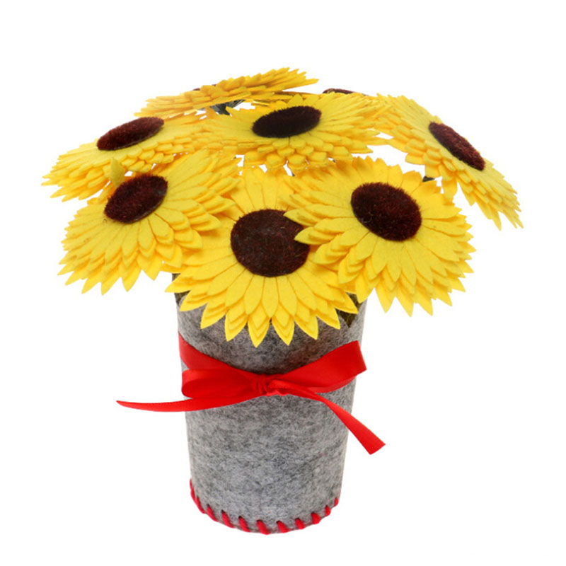 Children's DIY Handmade Flower Crafts Toy Fabric Kindergarten Manual Material Package  Home Creative Decorative Flower Bouquet
