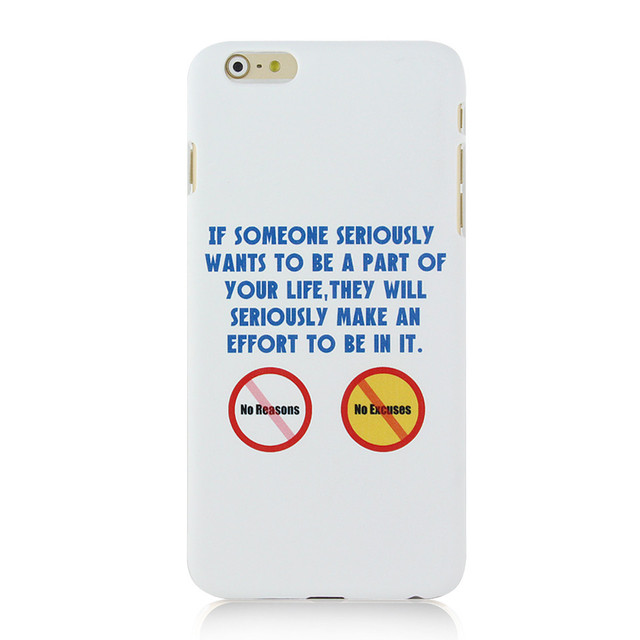 3e19af125d Cute Hot Mobile Phone Case for Iphone 6plus -Good words for life no reasons  [