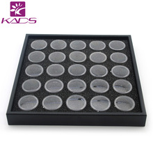 KADS 2016 Hot 10set/pack 25 Pots Black Color Nail Art Display Box Nail Art Empty Bottle For Nail Art Decoration Products Show