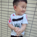 New Children Short Sleeve T-shirt Fashion Creative Graffiti Boys Girls White T Shirt Warm Family Parent-child Outfit