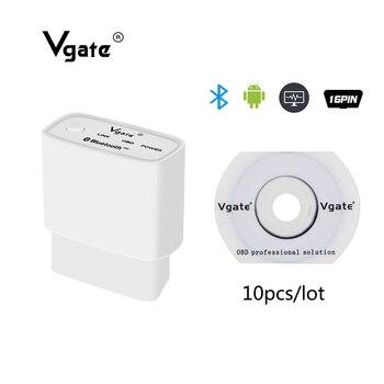 Vgate OBD2 ELM327 Bluetooth Auto diagnostic-tool obd2 Scanner Support J1850 OBD2 scan tool profissional elm 327 ICAR1 10PCS/LOT